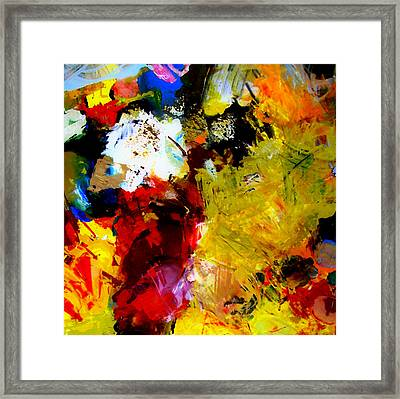 Palette Abstract Square Framed Print