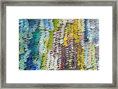 Palette. Colorful Painter Palette. Exhausted Paint And Abstract Painting. Framed Print by Vitali Komarov
