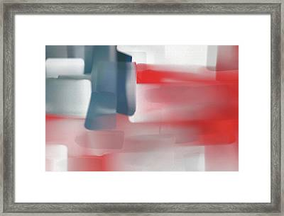 Palette Knife Abstract American Flag Framed Print by Dan Sproul