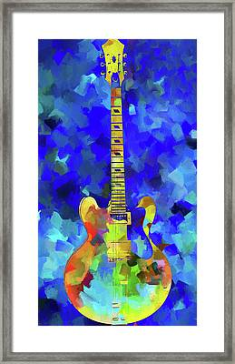 Palette Knife Colorful Guitar Framed Print by Dan Sproul