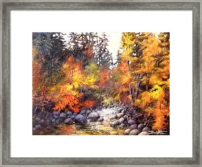 Palette Of Gold Framed Print