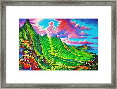 Pali Lookout Framed Print