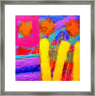Palimpsest Ix Framed Print