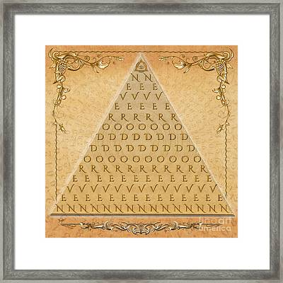 Palindrome Pyramid V1-decorative Framed Print by Bedros Awak