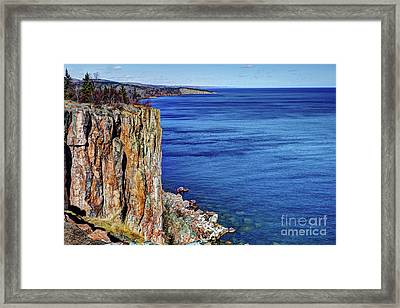 Palisade Head Tettegouche State Park North Shore Lake Superior Mn Framed Print