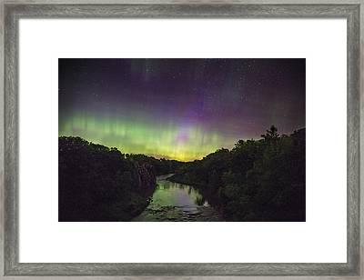 Palisades Aurora Framed Print by Aaron J Groen