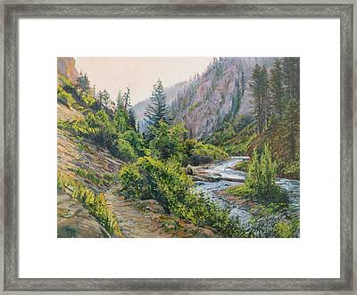 Palisades Creek  Framed Print