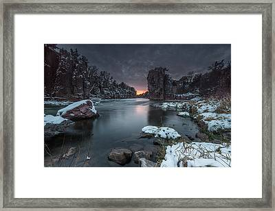 Palisades First Snow Framed Print