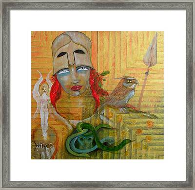 Pallas Athena Framed Print by Erika Brown