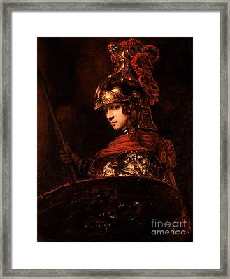 Pallas Athena  Framed Print by Rembrandt