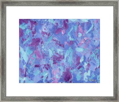Pallet Knife Design Framed Print by Barbara Tristan