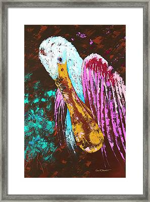 Pallet Knife Spoonbill Framed Print by Kevin Brant