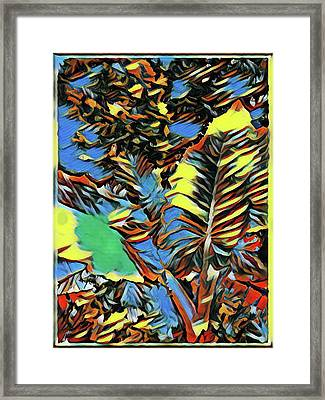 Palm Abstract Framed Print by Mindy Newman