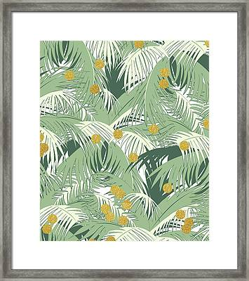 Palm And Gold Framed Print