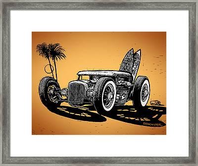 Palm Beach Framed Print by Bomonster