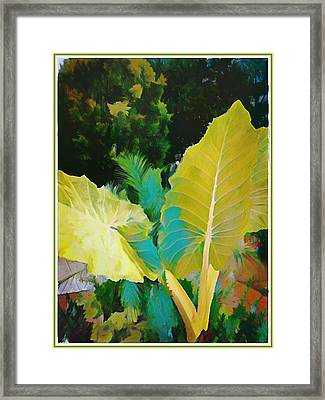 Framed Print featuring the painting Palm Branches by Mindy Newman