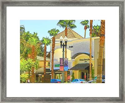 Palm Desert El  Paseo Framed Print