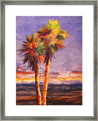Palm Duo Framed Print by Anne Marie Brown