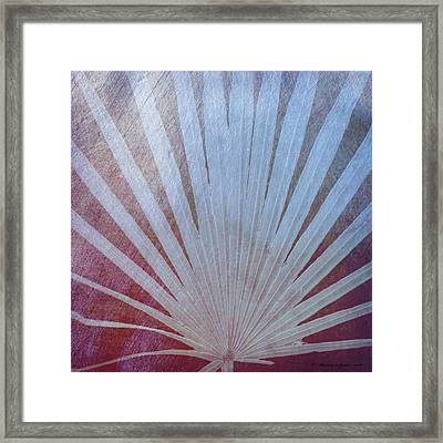 Palm Frond-rust Framed Print by Marvin Spates