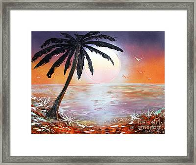 Palm Framed Print by Greg Moores