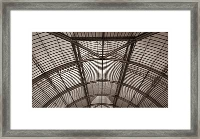 Framed Print featuring the photograph Palm House At Kew by Tom Vaughan