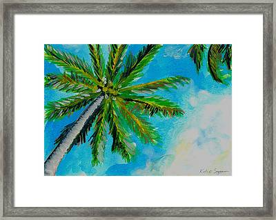 Palm In The Sky Framed Print