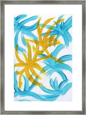 Palm Island Abstract Framed Print by Christina Rollo