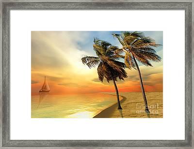 Palm Island Framed Print by Corey Ford