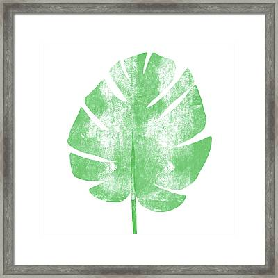 Palm Leaf- Art By Linda Woods Framed Print by Linda Woods