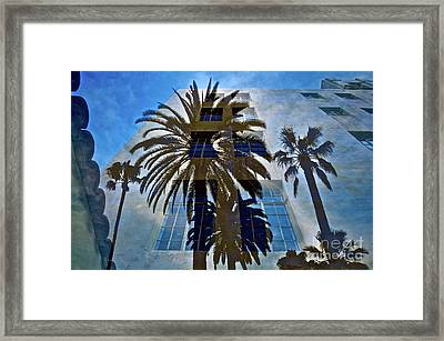 Palm Mural Framed Print