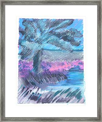 Palm Of The Night Framed Print
