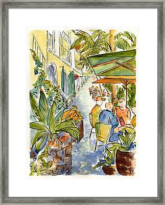 Palm Passage Framed Print
