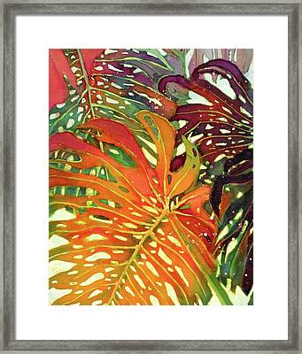 Palm Patterns 2 Framed Print by Deborah Younglao