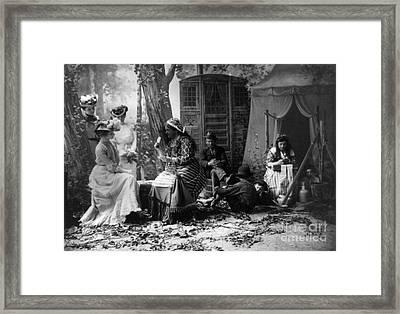 Palm Reading, C1902 Framed Print by Granger