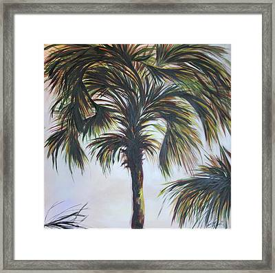 Palm Silhouette Framed Print by Michele Hollister - for Nancy Asbell