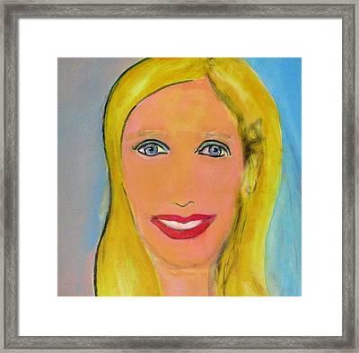 Palm Springs Doll Framed Print