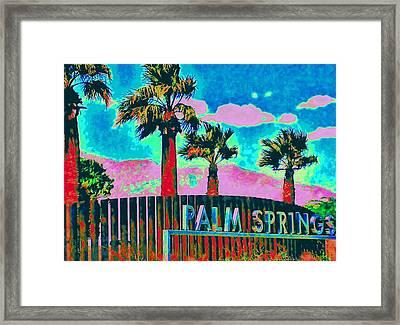 Palm Springs Gateway Three Framed Print by Randall Weidner