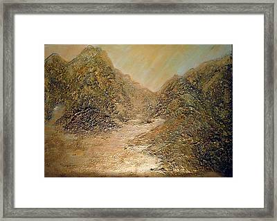 Palm Springs Mountains Framed Print