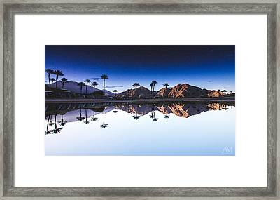 Palm Springs Reflection Framed Print