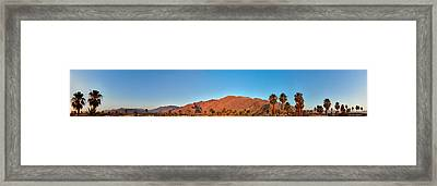 Palm Springs Sunrise Framed Print