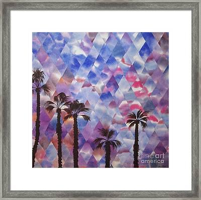 Palm Springs Sunset Framed Print by Jeni Bate