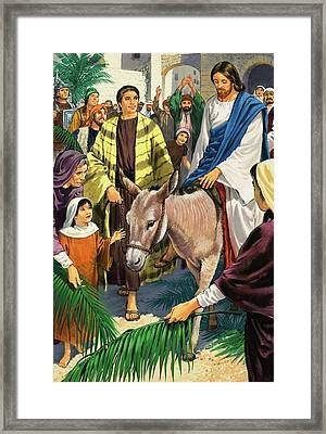 Palm Sunday Framed Print by Clive Uptton