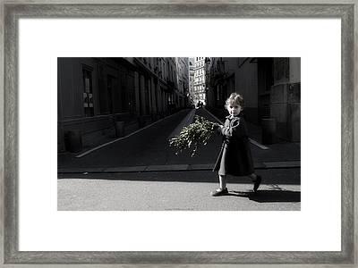 Palm Sunday Girl Framed Print by Obi Martinez
