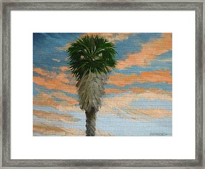 Palm Sunrise Framed Print by Robert Rohrich