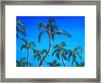 Palm Tops Framed Print by Anastasiya Malakhova
