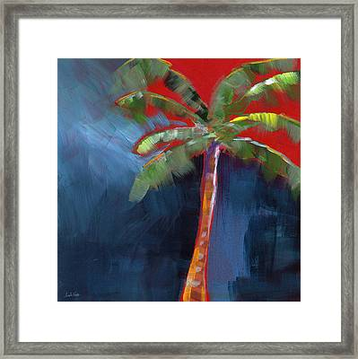 Palm Tree- Art By Linda Woods Framed Print