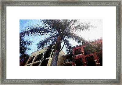 Palm Tree Art Framed Print