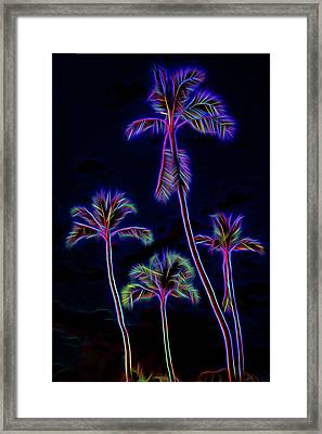Palm Tree Graphic Framed Print by Kelley King