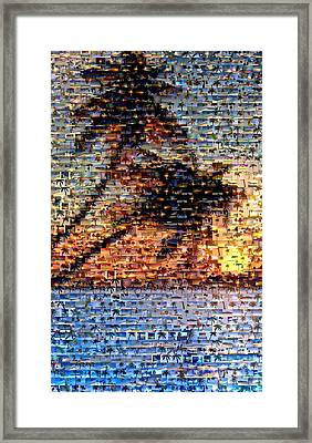 Framed Print featuring the mixed media Palm Tree Mosaic by Paul Van Scott