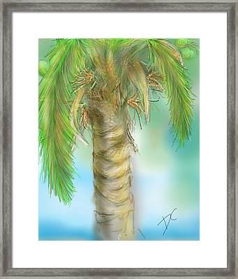 Palm Tree Study Two Framed Print